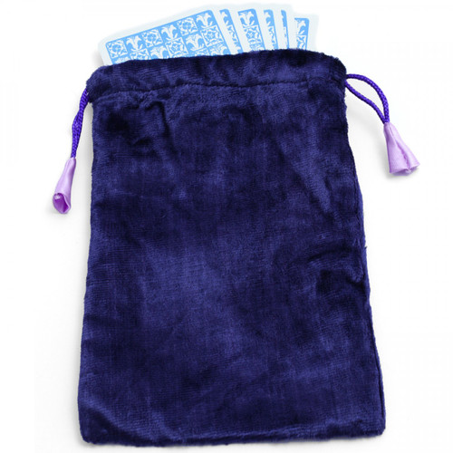 Large Purple Velvet Tarot/Angel Card Bag