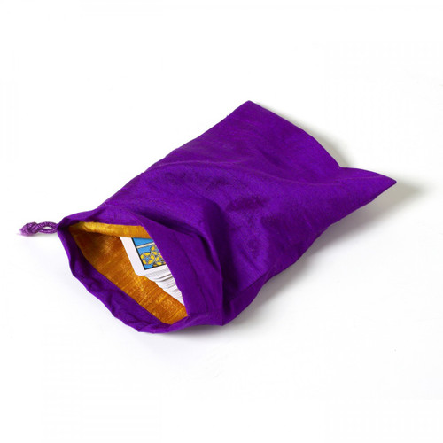 Large Purple Tarot/Angel Card Bag - With Gold Lining (100% SILK)