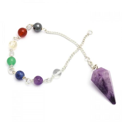 Chakra Pendulum - Banded Amethyst