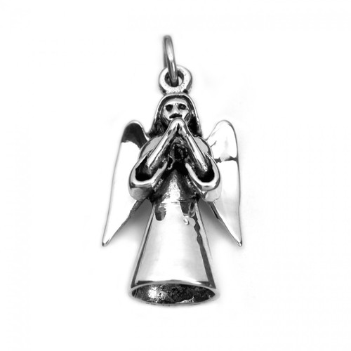 Angel Prayer Charm / Pendant (Sterling Silver)
