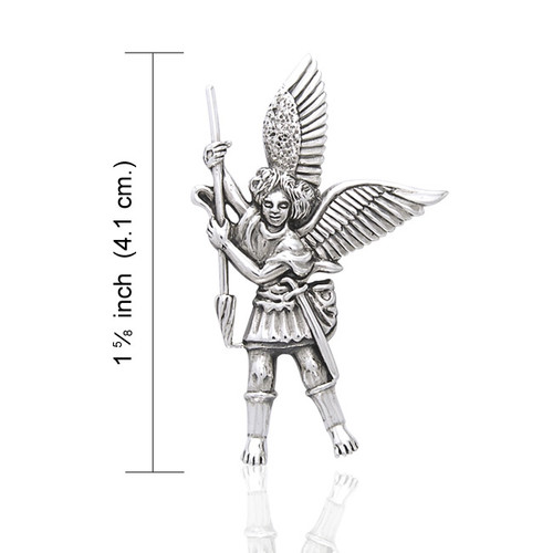 Archangel Michael Pendant (Sterling Silver)