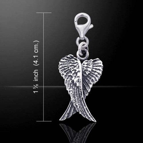Angel Wings Clip Charm (Sterling Silver)