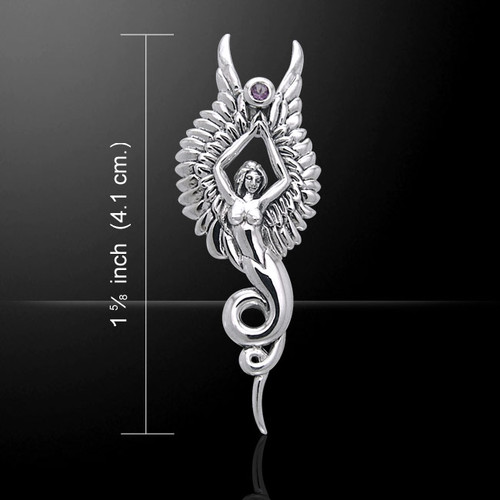 Angel of the Phoenix Pendant (Sterling Silver)