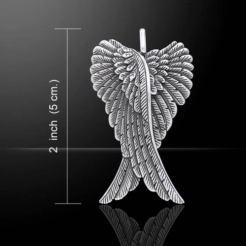 Large Double Angel Wings (Sterling Silver)