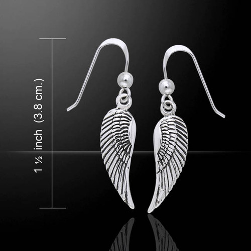 Single Angel Wing Earrings (Sterling Silver)