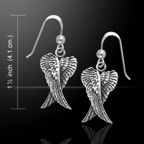 Double Angel Wings Earrings (Sterling Silver)