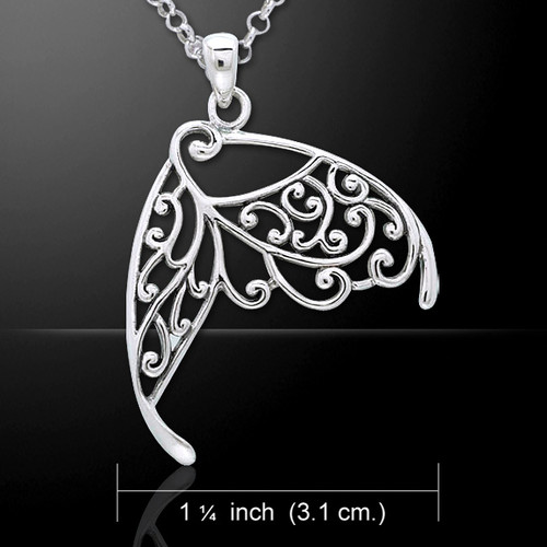 Intricate Wing Pendant (Sterling Silver)