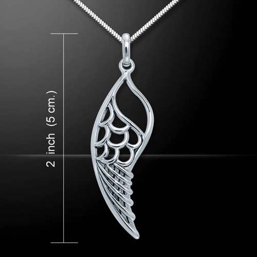 Single Wing Pendant (Sterling Silver)