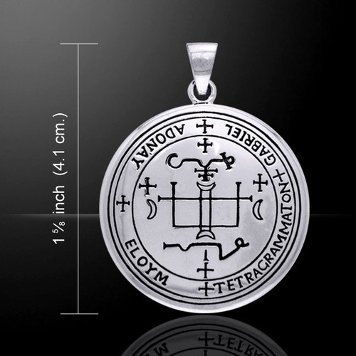 Sigil of Archangel Gabriel Pendant (Sterling Silver)