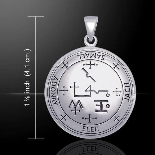 Sigil of Archangel Samael Pendant (Sterling Silver)
