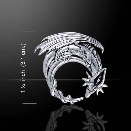 Dragon Moon Pendant (Sterling Silver)