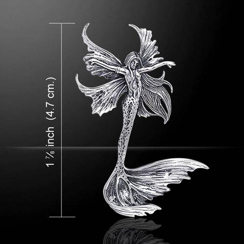 Sea Sprite Fairy Pendant (Sterling Silver)