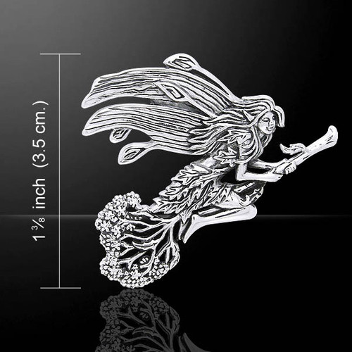 Besom Fairy Pendant (Sterling Silver)