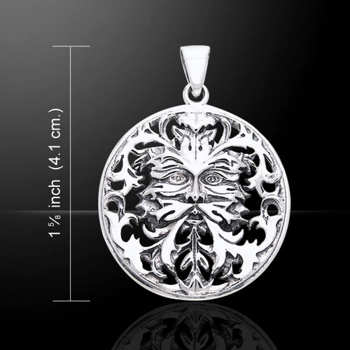 Oberon Zell Green Man Pendant (Sterling Silver)