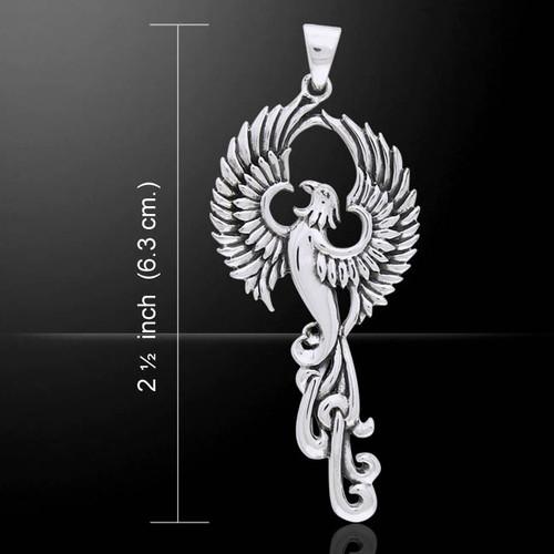 Rising Phoenix Pendant (Sterling Silver)