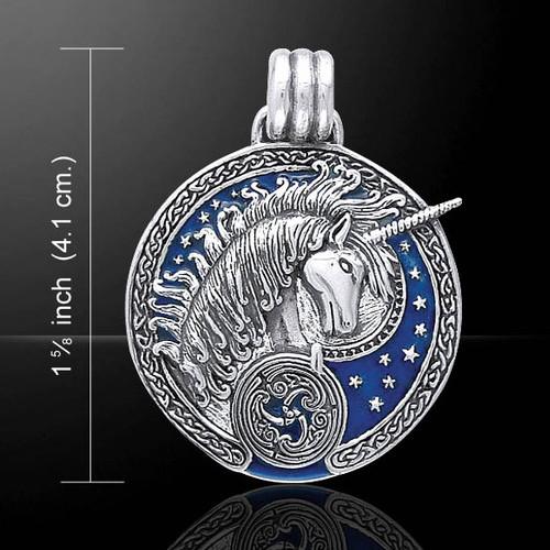 Celtic Unicorn Pendant (Sterling Silver)