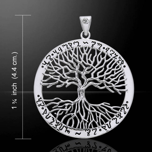 Wiccan Tree of Life Pendant (Sterling Silver)