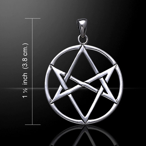 Unicursal Hexagram Pendant (Sterling Silver)