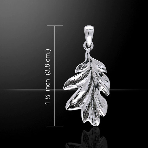 Magick & Witch Oak Leaves Pendant (Sterling Silver)