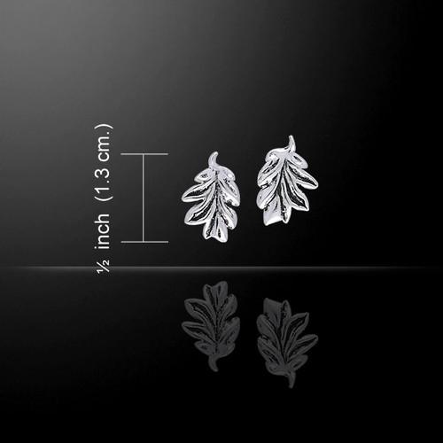 Oak Leaves Earrings (Sterling Silver)