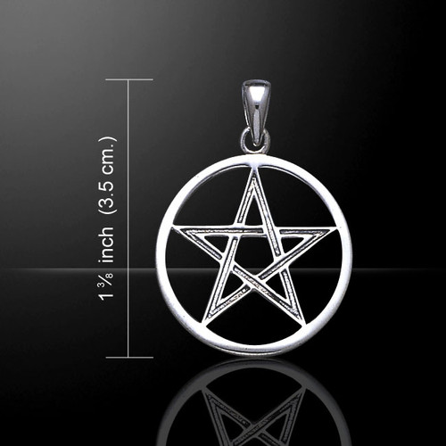 Large Open Pentacle Pendant (Sterling Silver)