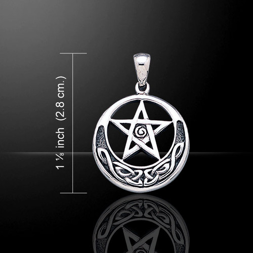 Celtic Knot Pentagram Pentacle Pendant (Sterling Silver)