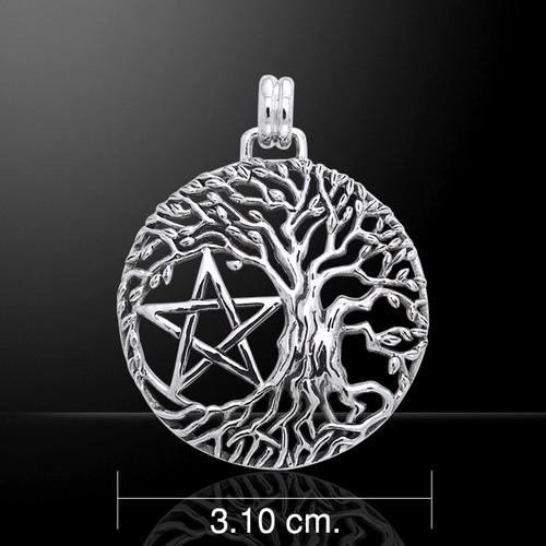 Mickie Muller Tree Pentagram Pendant (Sterling Silver)