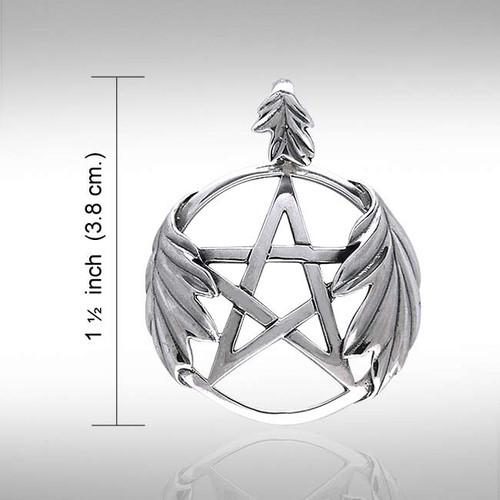 Oak Leaf Pentagram Pendant (Sterling Silver)