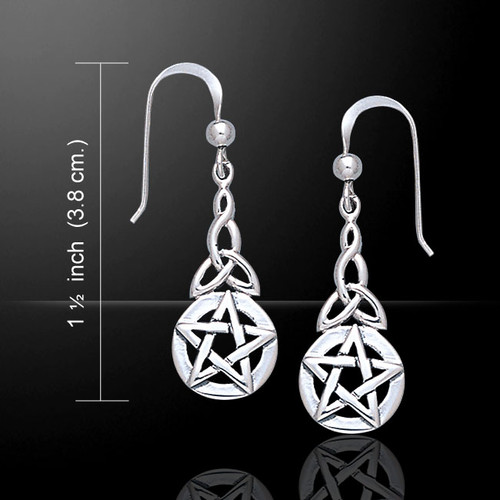 Pentacle And Trisceal Earrings (Sterling Silver)