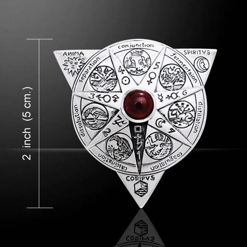 Alchemical Mandala Pendant (Sterling Silver)