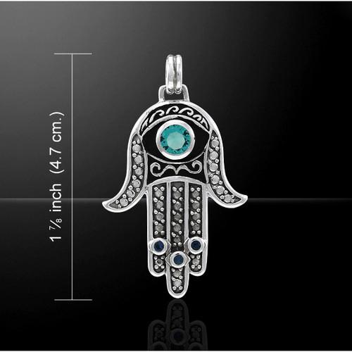Hamsa Pendant (Sterling Silver)