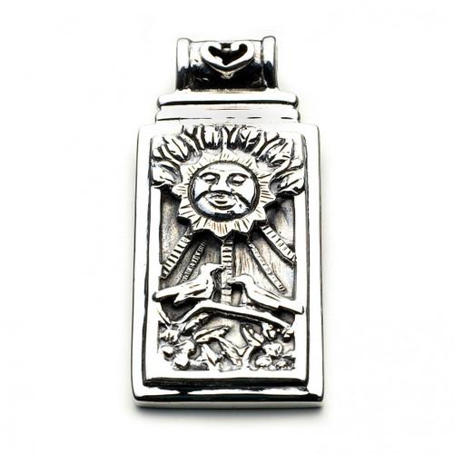 The Sun Tarot Card Pendant (Sterling Silver)