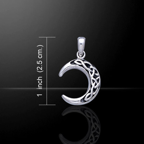 Triquetra Crescent Moon Pendant (Sterling Silver)