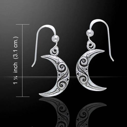 Celtic Spiral Crescent Moon (Sterling Silver)