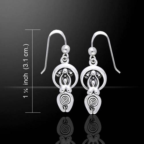 Moon Goddess Earrings (Sterling Silver)