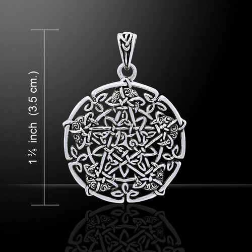 Moon Pentacle Pendant (Sterling Silver)