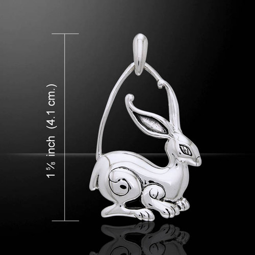 Large Hare Pendant (Sterling Silver)
