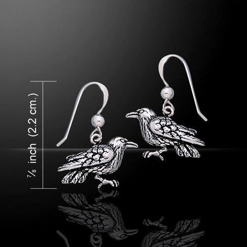 Raven Earrings (Sterling Silver)