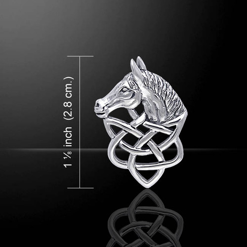 Horsehead Knotwork Pendant (Sterling Silver)