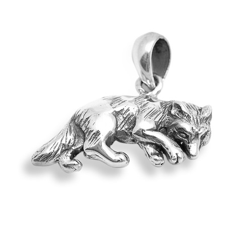 Wolf Pendant (Sterling Silver)