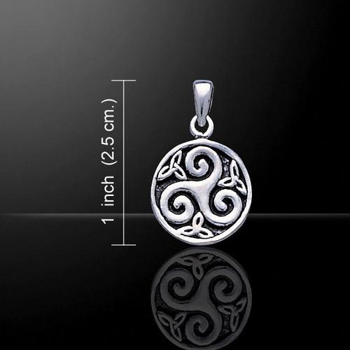 Celtic Spiral Pendant (Sterling Silver)