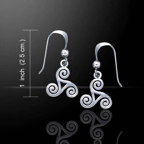Celtic Spiral Earrings ( Sterling Silver)