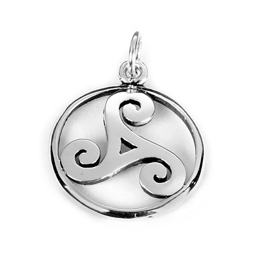 Small Triskele Pendant (Sterling Silver)