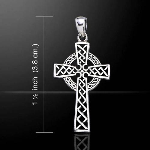 Celtic Knotwork Cross Pendant (Sterling Silver)