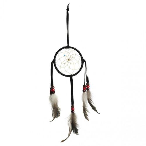 Navajo Black Dream Catcher - Small 3 Inch