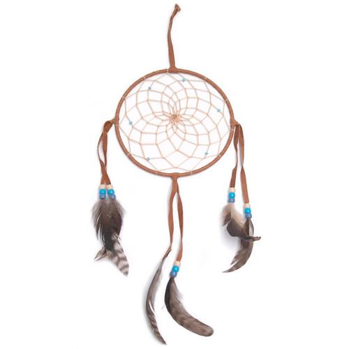 Dark Brown Navajo Dream Catcher - Large 6 Inch