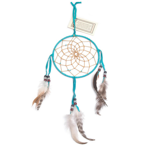 Turquoise Navajo Dream Catcher - Large 6 Inch