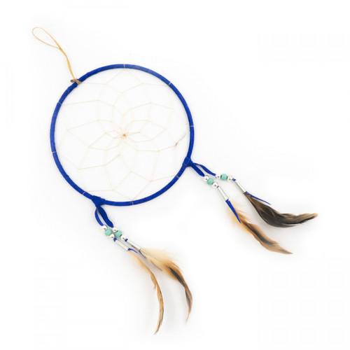 Dark Blue Navajo Dream Catcher - Large 7 Inch