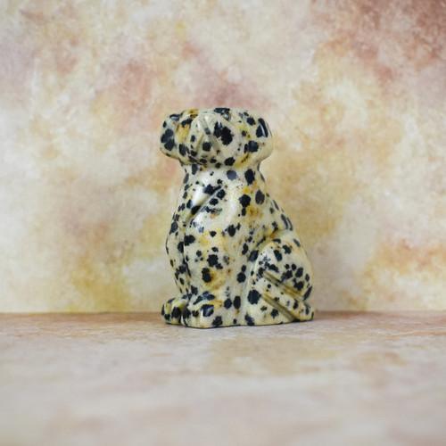 Hand Carved Dog - Dalmation Jasper