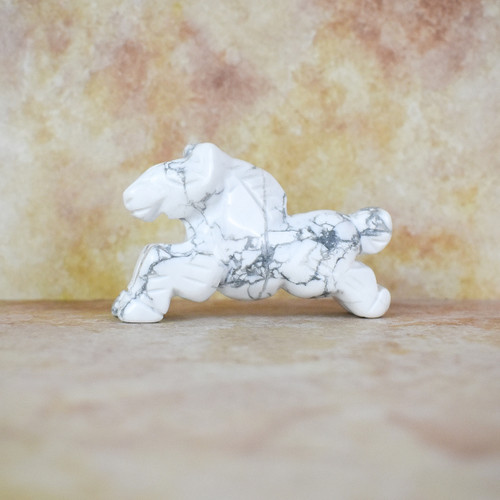 Hand Carved Horse - Howlite